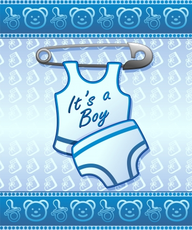 Baby Shower Boy Newborn Vector