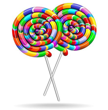 candy stick: Lollipop Candy Rainbow Colors