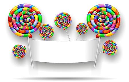 Lollipop Rainbow Party Banner Stock Vector - 17717223