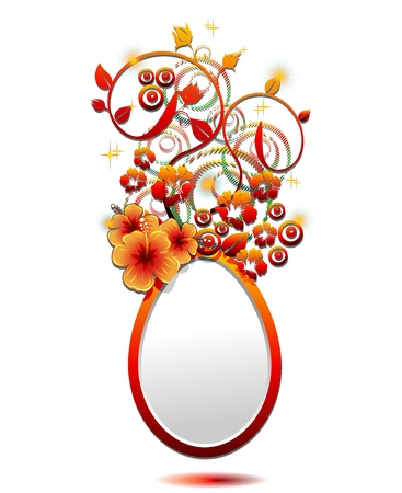 Easter Egg with Ornamental Hibiscus Flower Stock Vector - 17717227