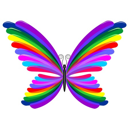 Rainbow Butterfly Abstract Design