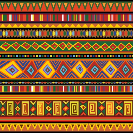 Ethnic Colorful Pattern Africa Art Vector