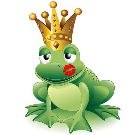Hechizos mágicos.  18024509-frog-prince-cartoon-clip-art-con-la-princesa-beso