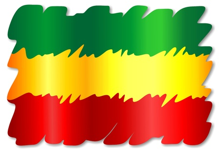 Rasta Colors Grunge Paint Flag Vector