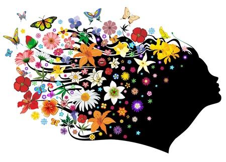 Printemps M�re Nature avec Fleurs