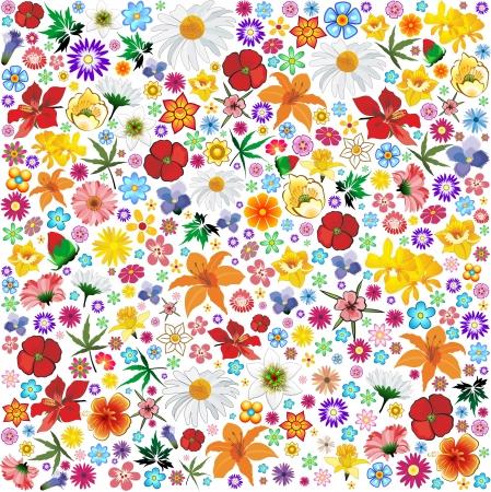 lilium: Spring Flowers Pattern Tile