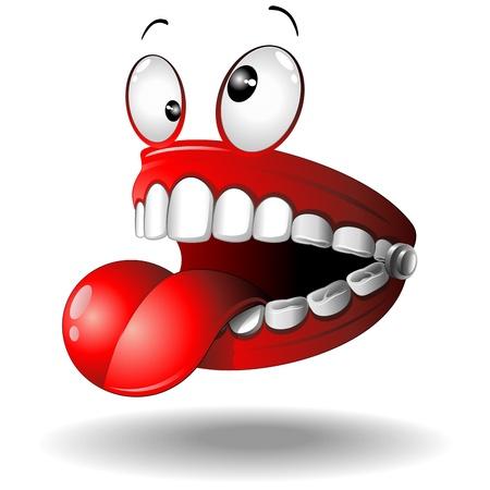 Bande dessinée drôle de Faux dents Vecteurs