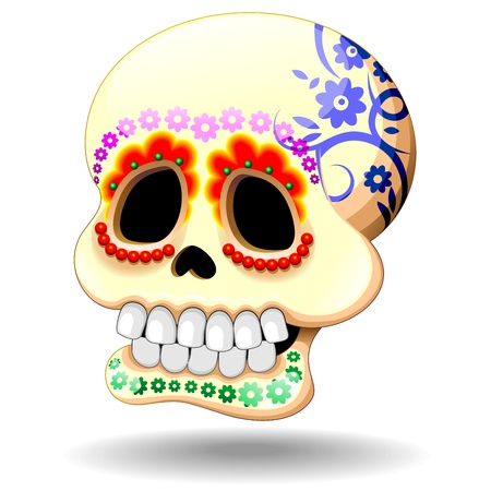 mexican folklore: Sugar Skull Calaveras Ornamental