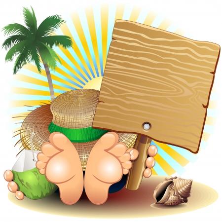 aliments droles: D�tendez-vous Vacances d'�t� � la plage Illustration