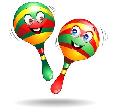 brazilian: Maracas Cartoon Characters