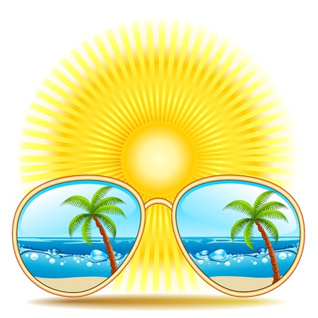 ray ban: Sunglasses With Beach Reflexion