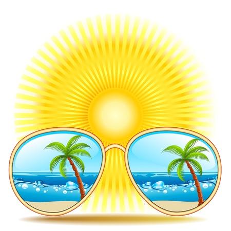reflexion: Sunglasses With Beach Reflexion