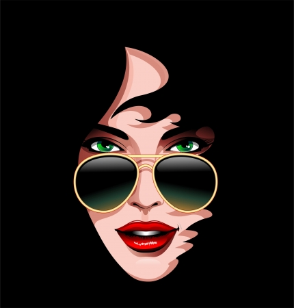 Seduction Woman Beauty Portrait Vector