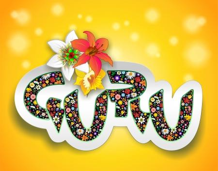 lilium: Guru Floral Art Design Text Sticker
