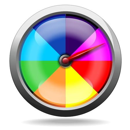 odometer: Speedometer Odometer Rainbow Colors Illustration