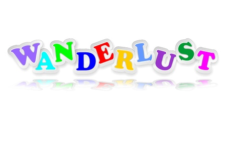 wanderlust: Wanderlust Sticker Text Letters Colors