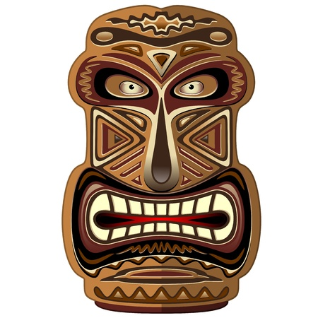 Africa Ethnic Mask Totem Stock Vector - 20913340