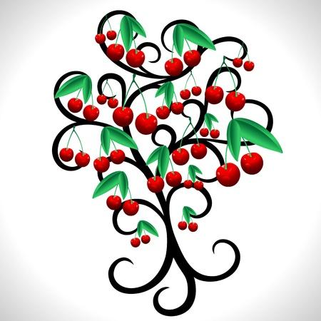 cherry tree: Cherry Tree Abstract Design
