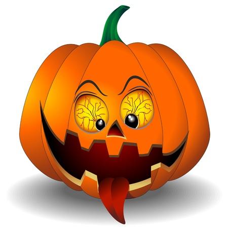 calabaza caricatura: Divertido y asustadizo de la calabaza de Halloween
