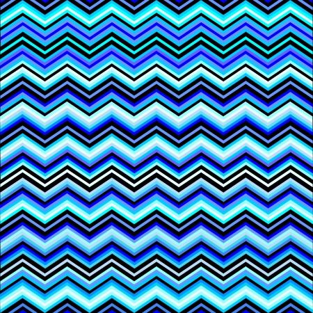 zag: Chevron Zig Zag Blue Pattern Illustration