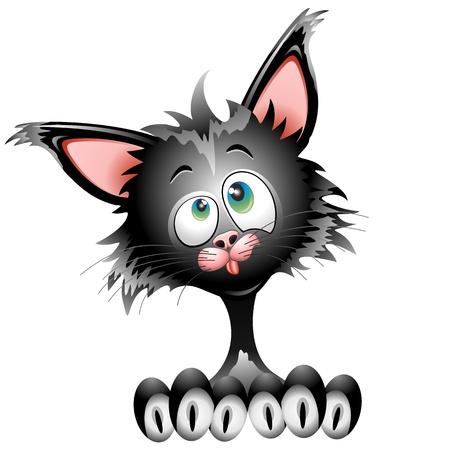 Cat Cartoon Character Funny Face Portrait