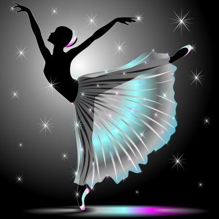 古典的なダンサーの優美なバレリーナ