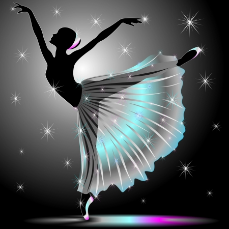 Classical Dancer Graceful Ballerina Vector