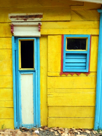 Caribbean Creole Colorful Wooden House Style photo