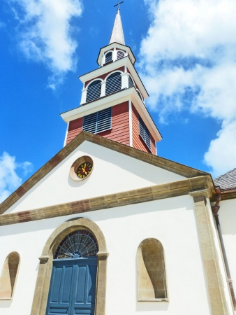 martinique: White Church Caribbean Creole Architecture Style