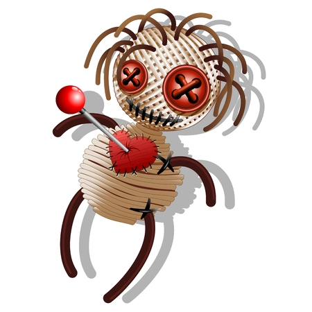 stabbed: Voodoo Doll Cartoon Muerte Vectores