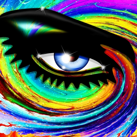 digital eye: Psychedelic Eye Mesmerizing Look