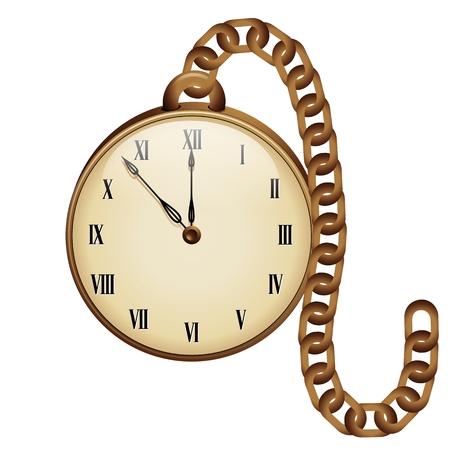 quadrant: Vintage Pocket Clock Illustration
