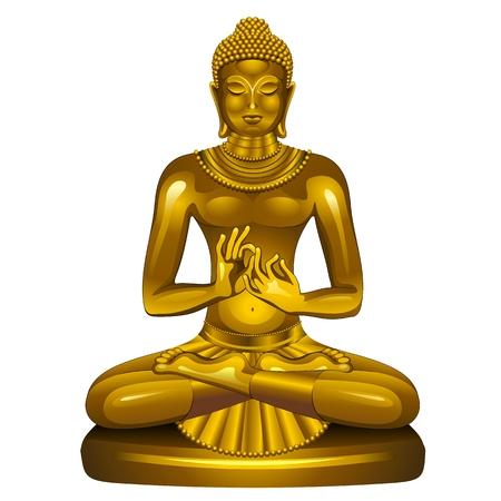 Golden Buddha Siddhartha Gautama Stock Vector - 24549949