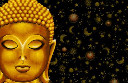 Buddha Golden Vintage Portrait