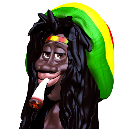 Rastaman Caricature 3d photo