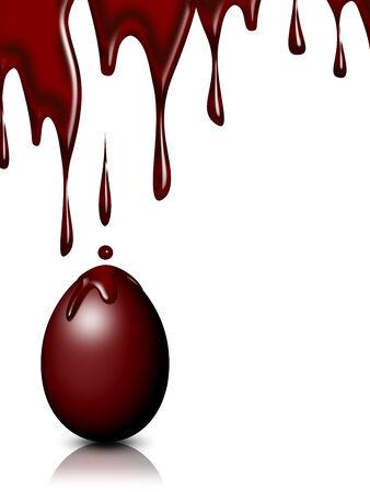 chocolate derretido: Huevo de Pascua de chocolate derretido Foto de archivo