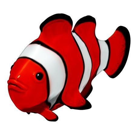 pez payaso: 3d Clownfish Foto de archivo