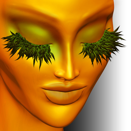 Mother Nature Green and Gold Portrait photo