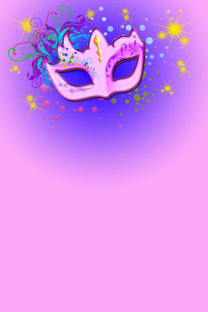 Pink Carnival Party Mask Poster Background photo