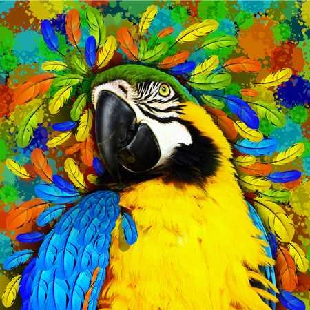 Gold and Blue Macaw Fantasy photo