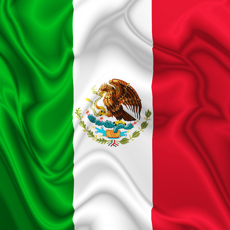 Mexico Silk Flag photo