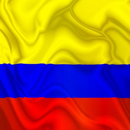 bandera de chile: Bandera que agita de la Seda Colombia