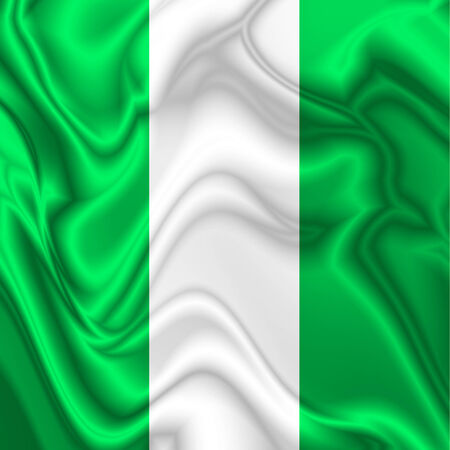 Nigeria Waving Silk Flag Stock Photo - 29902866