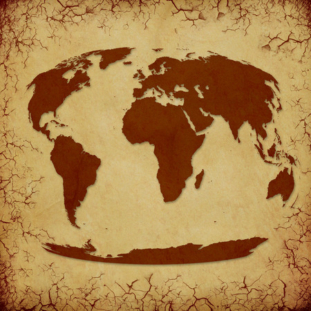 Grunge backround images stock pictures royalty free grunge vintage world map on cracked grunge background gumiabroncs Gallery