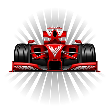 Formule 1 Red Racing Car Illustration