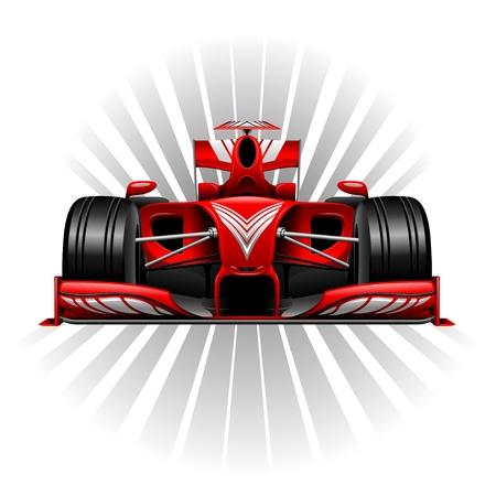 Wyścigi Formuły 1 Red Car Ilustracje wektorowe