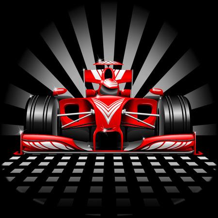 フォーミュラ 1 レースカー赤