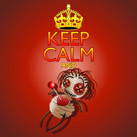 Keep Calm and Voodoo Doll Vector