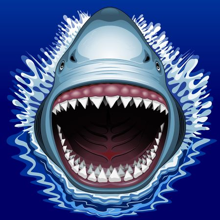 shark mouth: Shark Jaws Attack