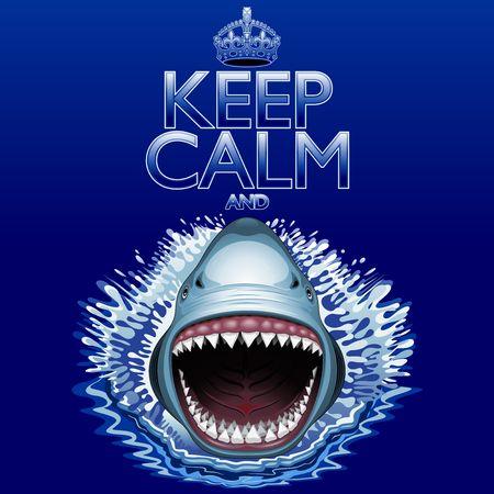 Keep Calm and Shark Jaws Attack